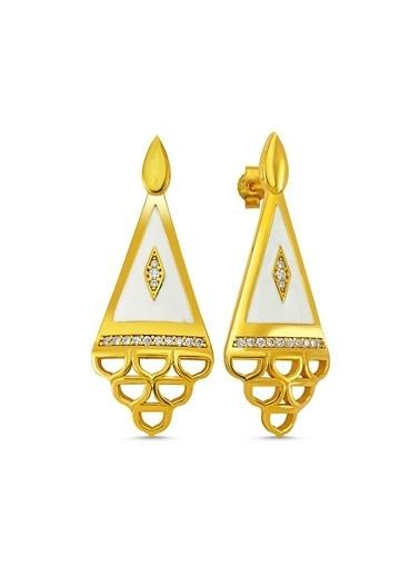 Reian Jewelry Ottoman Whıte Küpe Altın